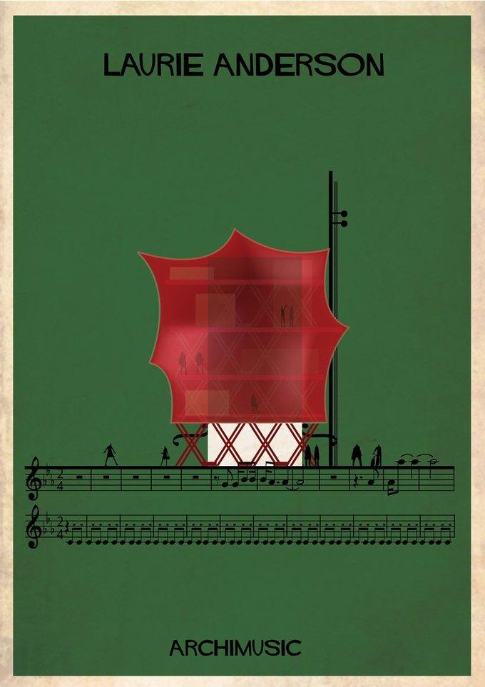 Испанский архитектор превратила песни в здания для новой серии плакатов . Изображение № 24.