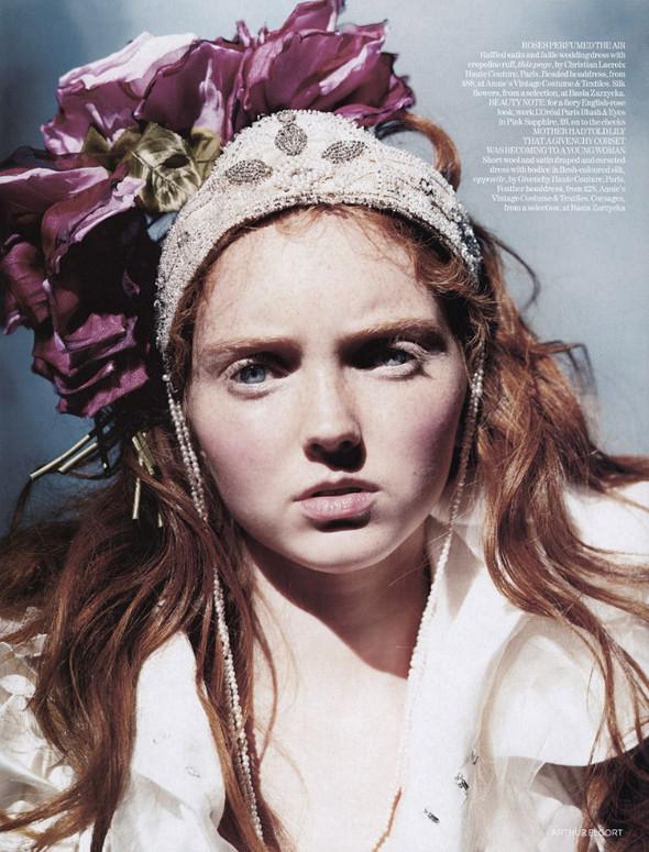 Архивная съёмка: Лили Коул для британского Vogue, 2004. Изображение № 9.