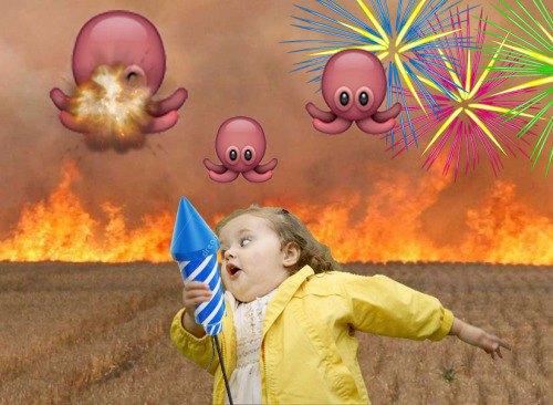 Я бежала через огненное поле, спасаясь от летающих осьминогов. Мне было очень страшно, а из оружия у меня были только фейерверки.. Изображение № 4.