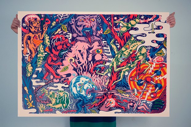 50 постеров, которые вдохновляют заняться шелкографией. Изображение № 9.