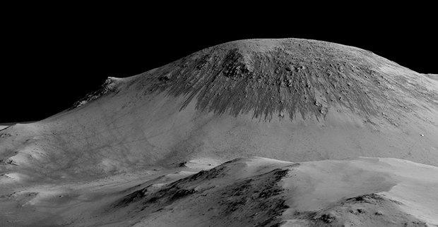 Подтверждено наличие жидкой воды на поверхности Марса. Изображение № 1.