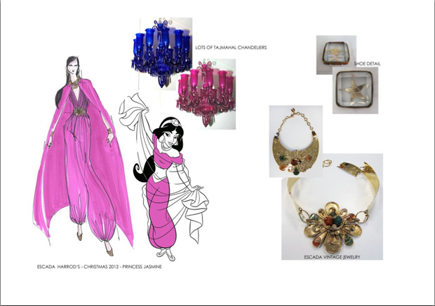 10 платьев диснеевских принцеcc от мировых дизайнеров в Harrods. Изображение №5.