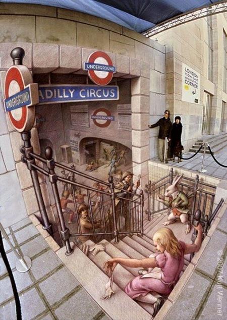 Невероятные рисунки наасфальте. Изображение № 40.