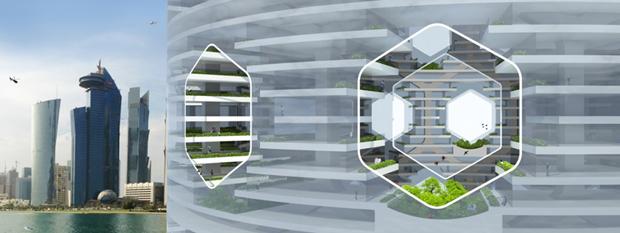 Архитекторы предложили концепт вертикального города на воде. Изображение № 4.