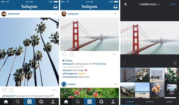 Instagram начал публиковать нетолько квадратные снимки. Изображение № 1.