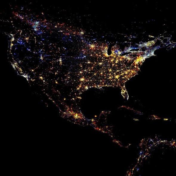 Взгляд из космоса.Nighttime Lights of the World. Изображение № 4.