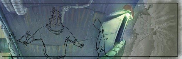 Анимация: бродяга спасает пса встимпанковском городе. Изображение № 24.