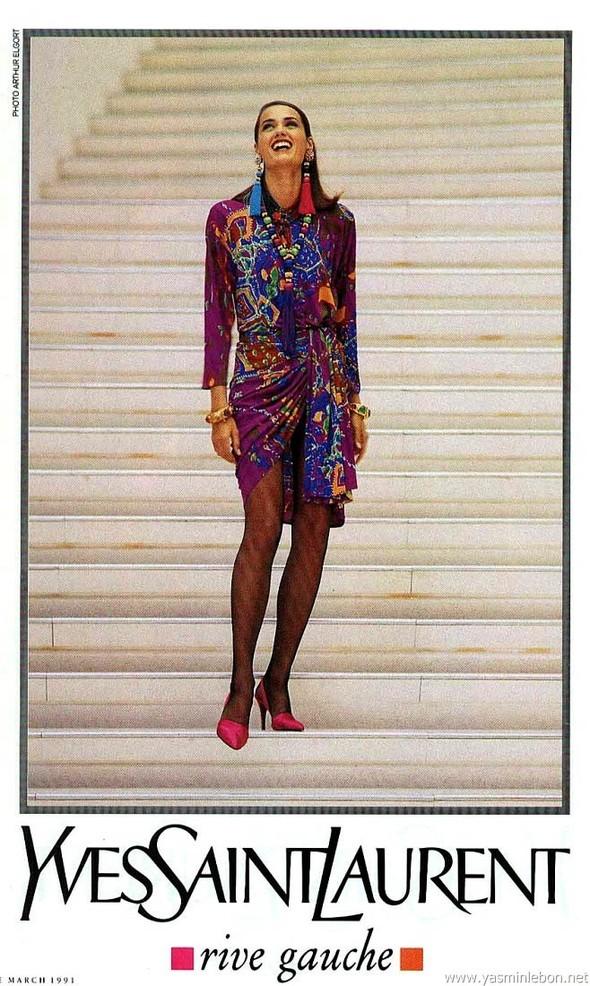 Архивная съёмка: Рекламная кампания Yves Saint Laurent SS 1991. Изображение № 5.