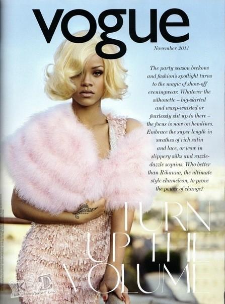 Съёмка: Рианна для британского Vogue. Изображение № 1.