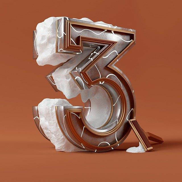 Дизайнер создал абстрактные объекты на основе цифр. Изображение № 4.