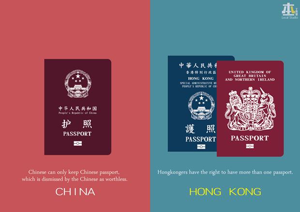 «Китаец может иметь только китайский паспорт, который бесполезен — Жители Гонконга имеют право иметь больше одного паспорта». Изображение № 19.