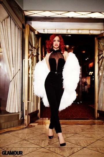 Съёмка: Рианна для Glamour. Изображение № 1.