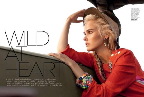 Съёмка: Изабель Лукас для австралийского Vogue. Изображение № 1.