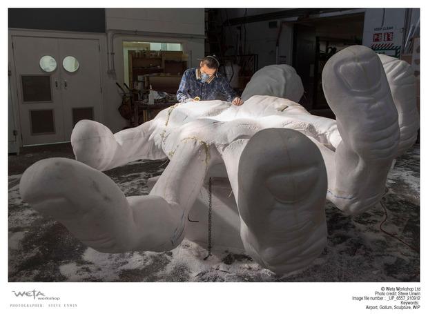 В аэропорту Веллингтона построили гигантскую скульптуру Горлума. Изображение № 3.