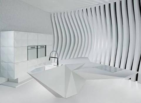 «Остров Оригами»: новый фантастический дизайн кухни от Карима Рашида. Изображение № 1.