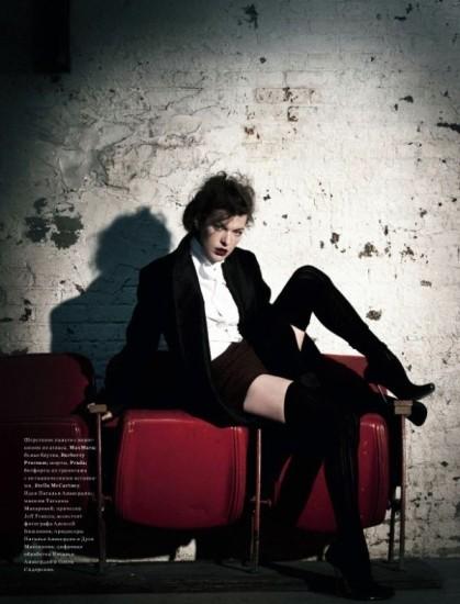 Mila Jovovich. Harper's Bazaar, sept-2009. Изображение № 6.