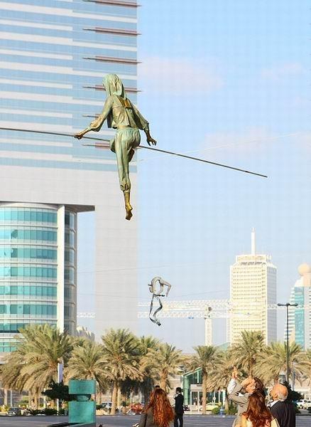 Скульптуры Джерзи Кедзиоры, парящие в воздухе. Изображение № 3.
