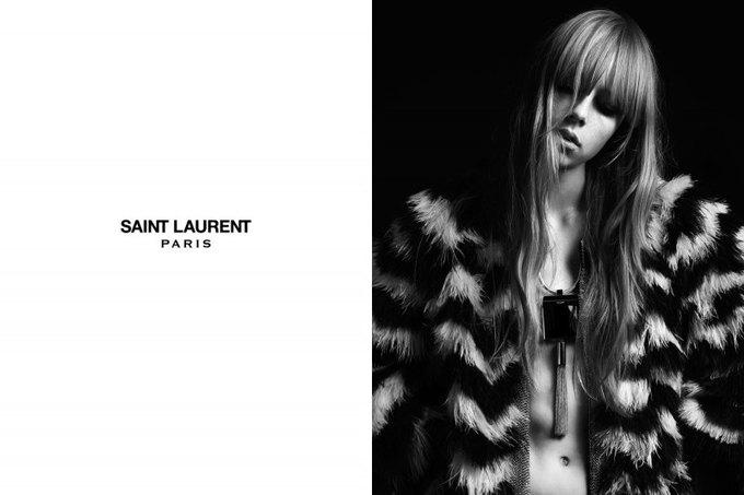Бек и Эди Кэмпбелл снялись в кампании Saint Laurent. Изображение № 15.
