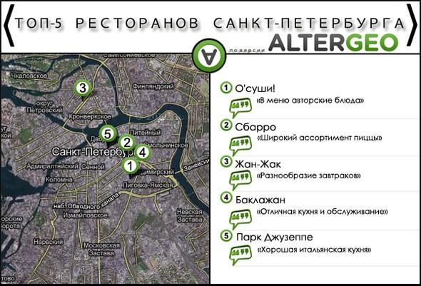 Самые модные места Петербурга в отечественном геосервисе. Изображение № 3.