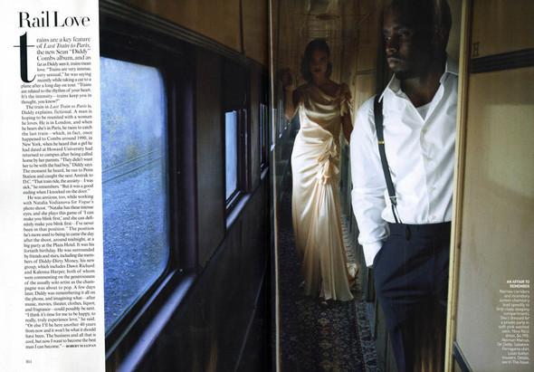 Водянова и Пи Дидди: Любовь в поезде. Изображение № 2.