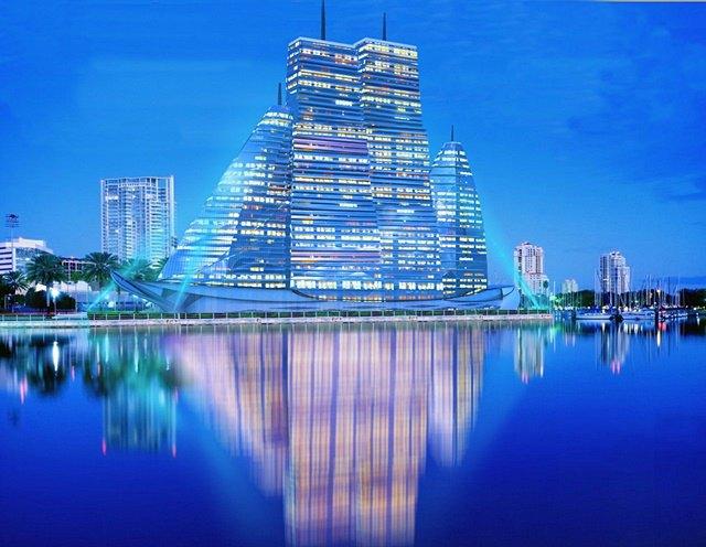 Российский архитектор показал больницу-небоскрёб в виде яхты. Изображение № 4.