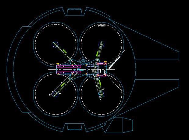 Энтузиаст построил дрон в виде «Тысячелетнего сокола». Изображение № 1.