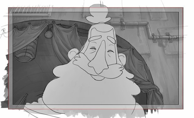 Анимация: бродяга спасает пса встимпанковском городе. Изображение № 37.