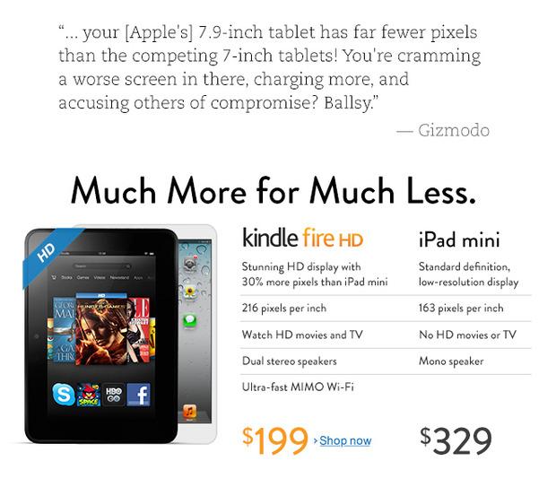 Реклама на главной странице сайта amazon.com. Изображение № 1.
