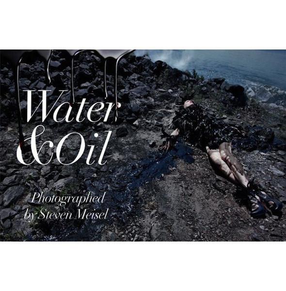 Съемка «Water & Oil» в итальянском Vogue. Изображение № 1.