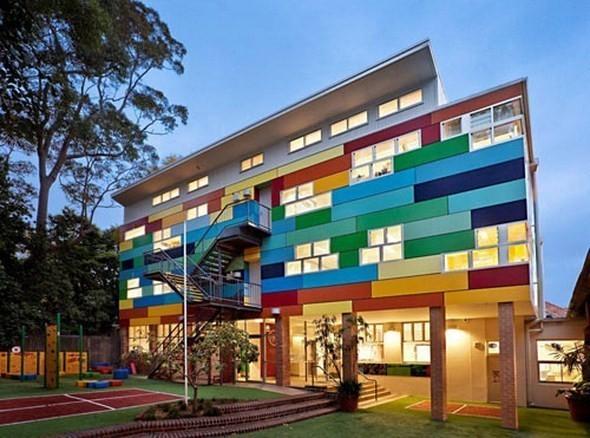 Изображение 1. Разноцветная школа от австралийских архитекторов.. Изображение № 1.