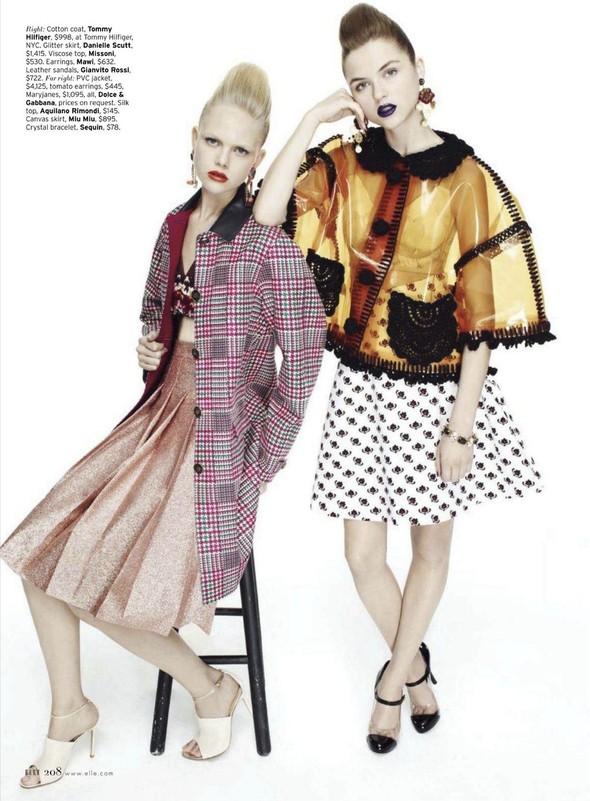 Съёмка: Раза Зукаускайте и Анне Софи Монрад для Elle. Изображение № 7.