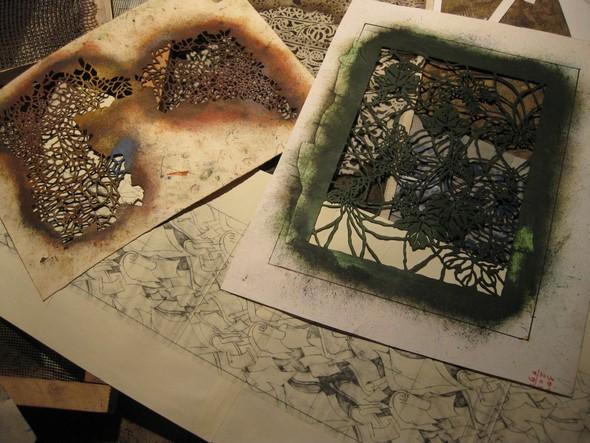 Ручная набойка по ткани: Е.А.Шнайдер и Н.Чурбакова. Изображение № 6.