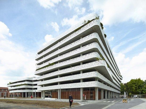 Архитектура дня: парковка сперфорацией вБельгии. Изображение № 3.