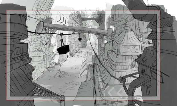 Анимация: бродяга спасает пса встимпанковском городе. Изображение № 38.