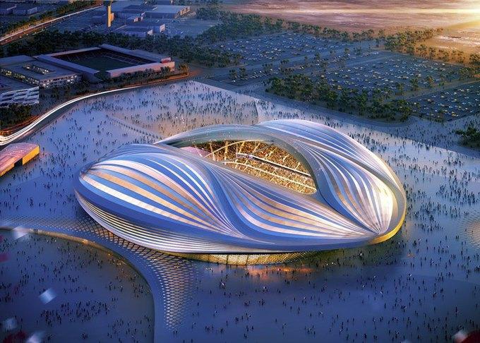 Заха Хадид представила дизайн стадиона в Катаре. Изображение № 1.