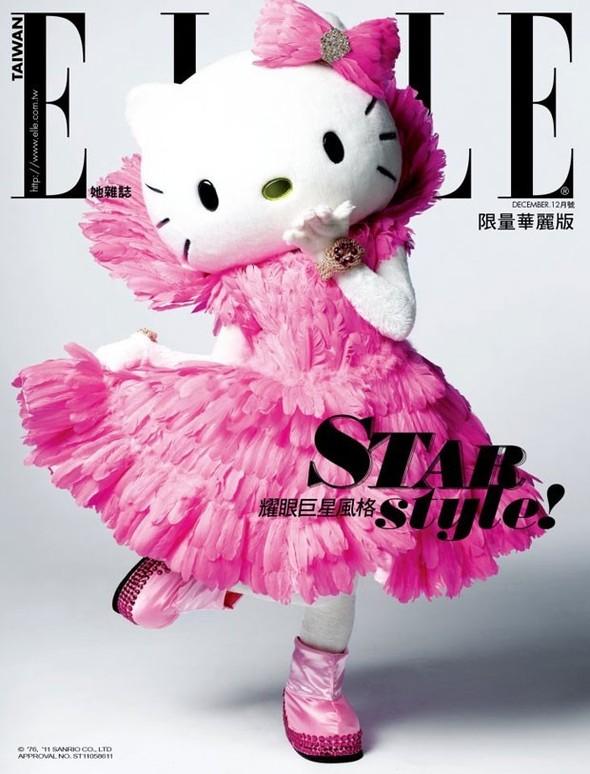 Обложки: Hello Kitty для Elle и Мистер Мозгоправ для Lovecat. Изображение № 1.