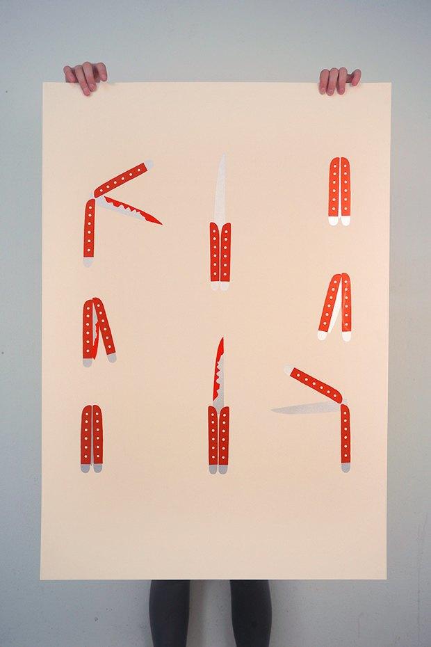 50 постеров, которые вдохновляют заняться шелкографией. Изображение № 34.