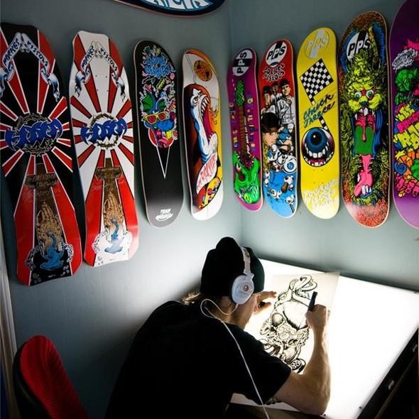 К доске: 10 художников-скейтбордистов. Изображение №81.