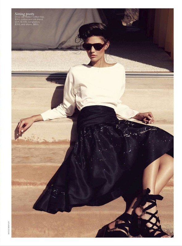 Съёмка: Марло Хорст и Кендра Спирс для австралийского Vogue. Изображение № 18.