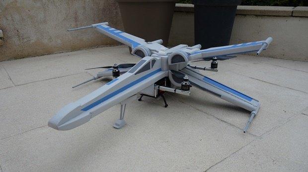 Энтузиаст собрал дрон в виде истребителя X-Wing. Изображение № 13.