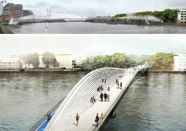 Выложены 74 проекта нового моста через Темзу. Изображение № 69.