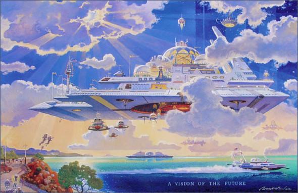 Каким было будущее. Космореализм Роберта МакКолла. Изображение № 5.