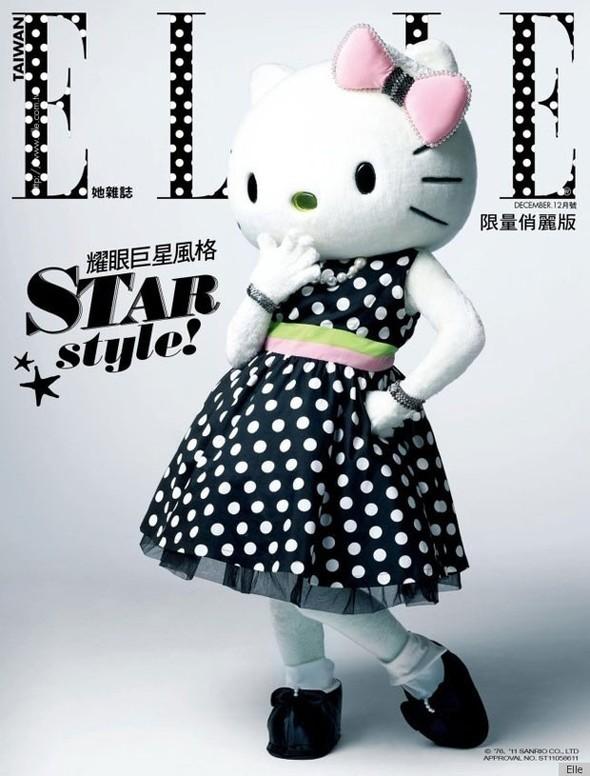 Обложки: Hello Kitty для Elle и Мистер Мозгоправ для Lovecat. Изображение № 2.