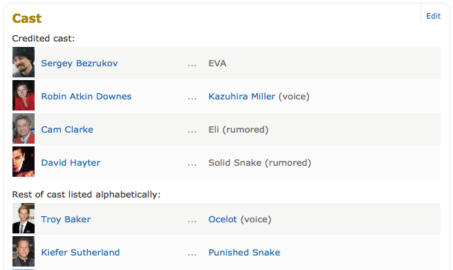 По слухам, Сергей Безруков работает над Metal Gear Solid V. Изображение № 1.