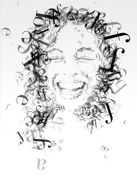 Портреты в типографике. Изображение № 42.