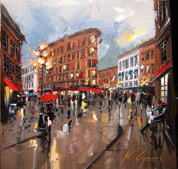 Красные зонтики художника Kal Gajoum. Изображение № 2.