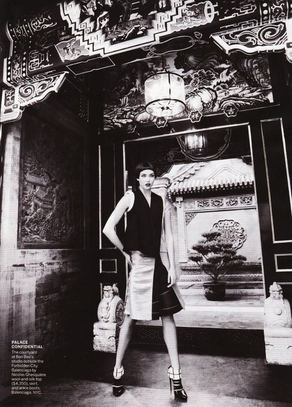 Съемка Go East! для Vogue US, сентябрь 2011. Изображение № 18.