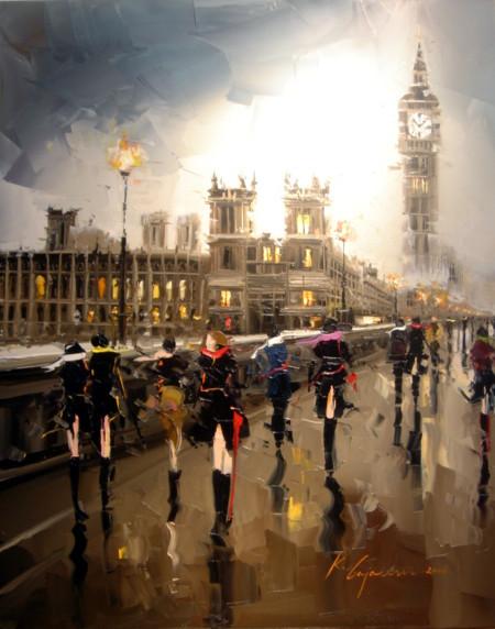 Красные зонтики художника Kal Gajoum. Изображение № 13.