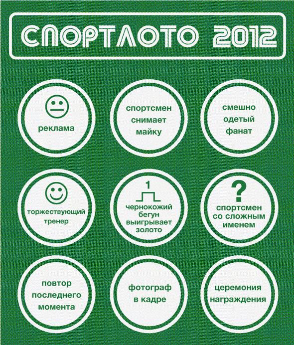 Спортлото-2012: Настольная игра по мотивам олимпийских трансляций . Изображение № 5.