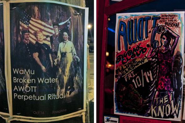 Постеры концертов AWOTT в Сиэтле и Портленде. Изображение № 1.